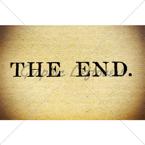 this is how it ends books macro up of the end in a vintage book 183 gl stock images