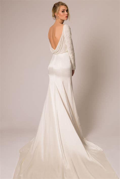 Silk Wedding Dresses Uk by Square Neck Cap Sleeves Open Back Silk Wedding