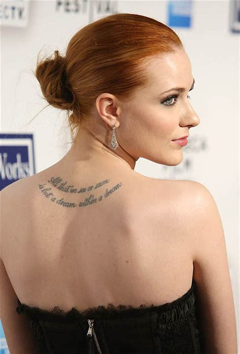 actresses with tattoos the popular and their tattoos