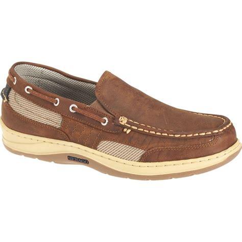 new mens sebago walnut clovehitch slip on boat shoes