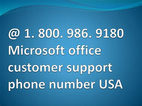 Microsoft Office Tech Support Phone Number by 1 800 986 9180 Microsoft Office Customer Support Phone