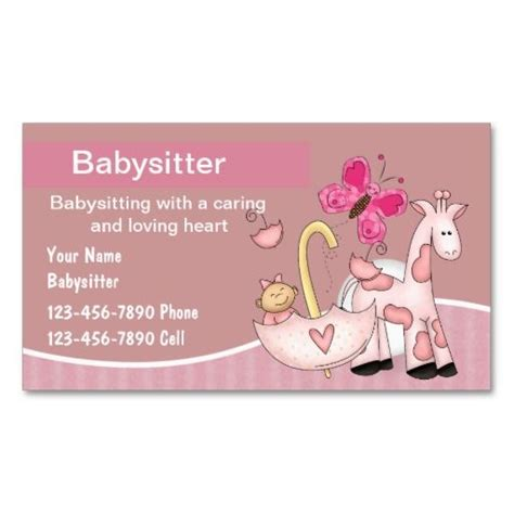 babysitting card template 159 best babysitting business cards images on