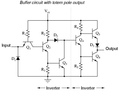 basic electronics transistors and integrated circuits the buffer gate logic gates electronics textbook