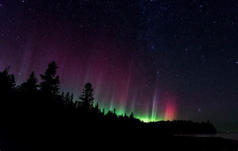 northern lights acadia national park wallpapers