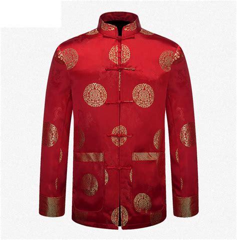 new year jacket national new year clothing silk satin