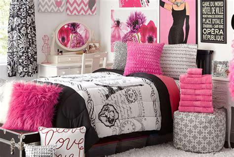 pink and black paris themed bedroom teens paris bedroom decor
