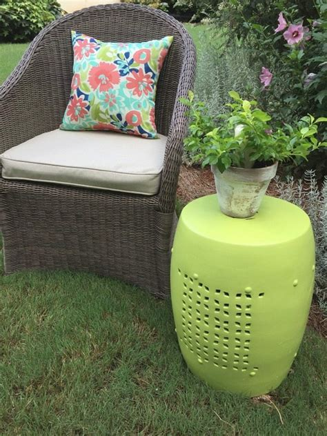 Constant Green Stool by Garden Stool Makeover Outdoor Paint Refresh Restyle