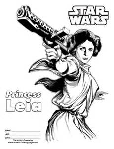 princess leia coloring pages wars coloring pages