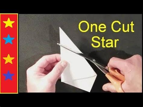 How To Make A Five Point Out Of Paper - make a with one cut
