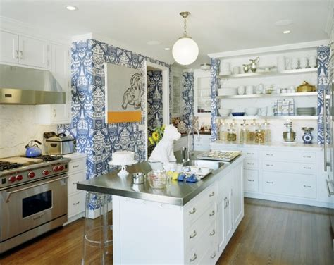 designer kitchen wallpaper how to instantly upgrade your kitchen without spending a