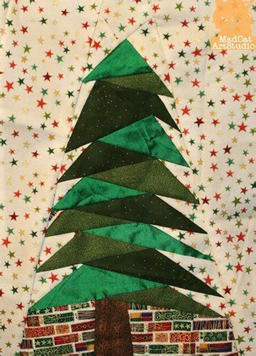 christmas tree paper pieced christmas tree in july foundation pieced pattern tree marion boddy
