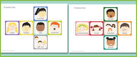 printable dice flash cards psed emotions dice eyfs ks1 free early years