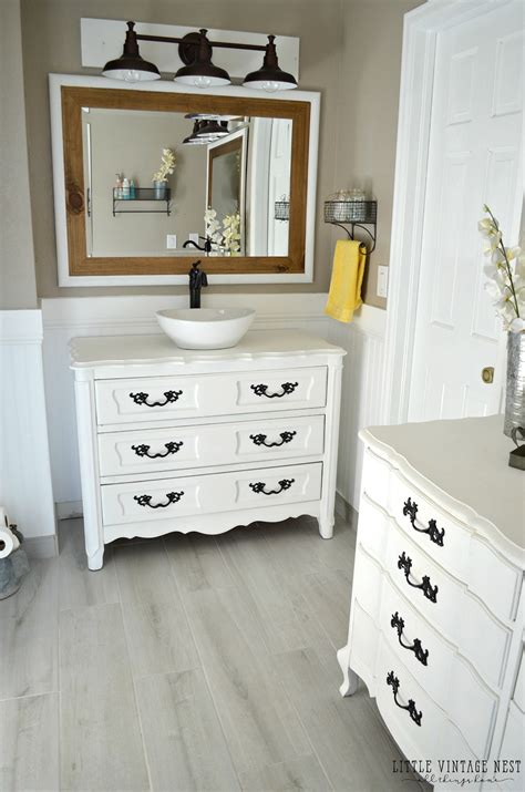 how to make a dresser into a bathroom vanity old dresser turned bathroom vanity tutorial