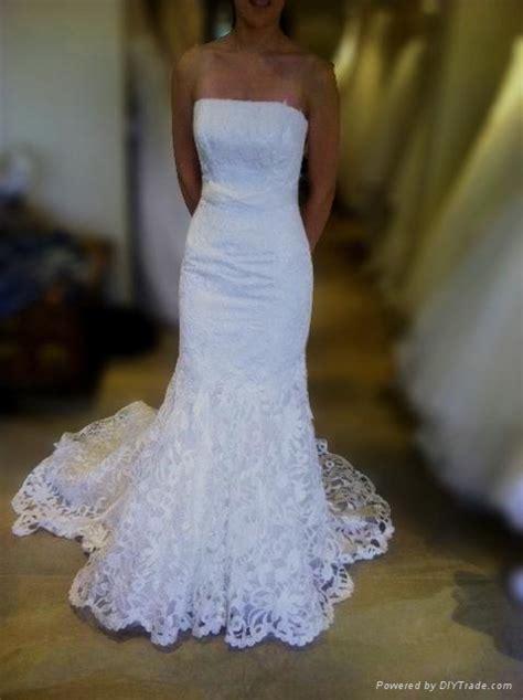 superior elegant unique lace mermaid wedding dress