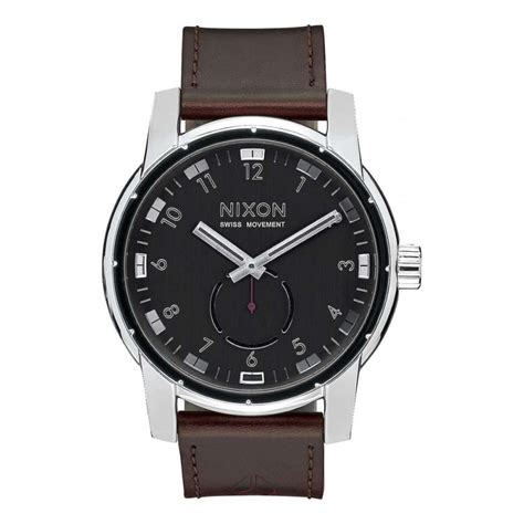 nixon patriot leather black mens accessories from attic clothing uk