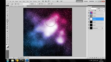 how to make space photoshop tutorial how to make a nebula space scene