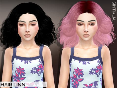the sims 4 hair for female kids the sims resource sintikliasims sintiklia child hair linn