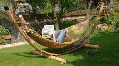 Hamac En Bambou mobilier en bambou hamac grand luxe en bambou naturel