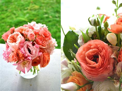 coral flowers wedding decoration centerpieces ipunya