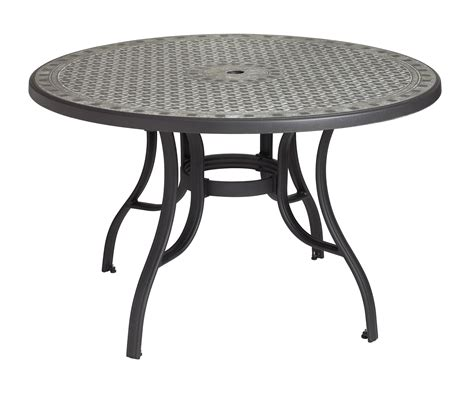 Cordoba 48 In Round Dining Table With Metal Legs Et T Patio Table Legs