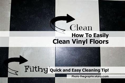 how to easily clean vinyl floors