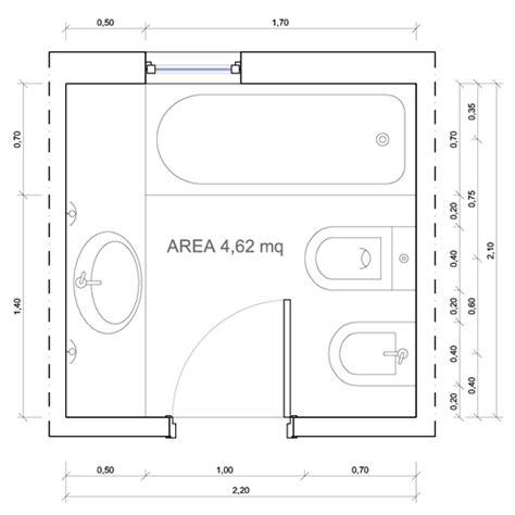 dimensione minima bagno bagni dimensioni minime