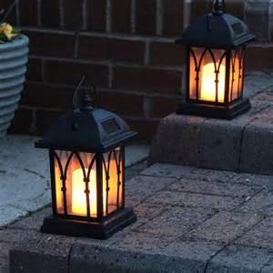 solar powered candle lights black solar candle lantern 27cm