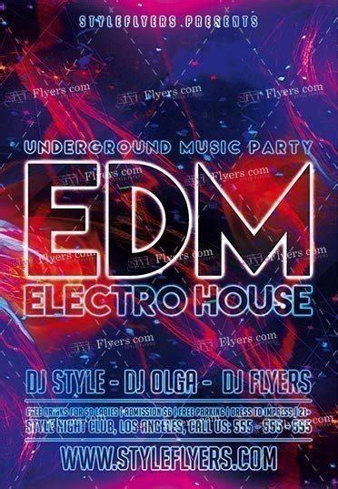 edm template free edm psd flyer template 16808 styleflyers