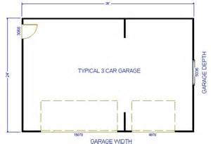 Garage Dimensions 3 Car Similiar Typical 3 Car Garage Sizes Keywords
