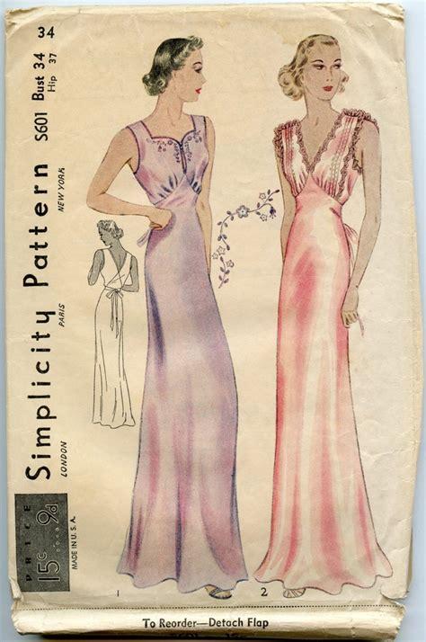 vintage nightwear pattern 70 best i vintage sewing patterns trousseau lingerie