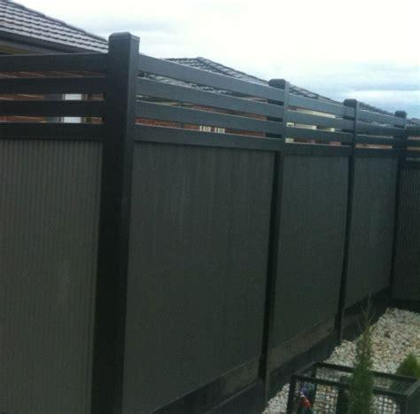 backyard screening options colorbond mini screen backyard boundary fence ideas