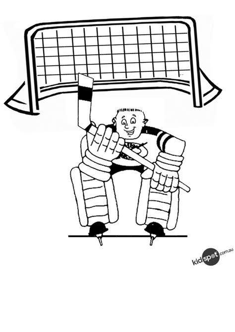 coloring pictures of hockey goalies free hockey images cliparts co