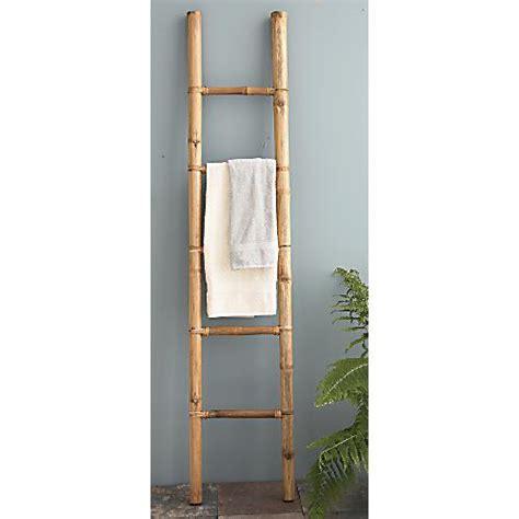 Bamboo Towel Rack by Bamboo Ladder Towel Rack Ebay