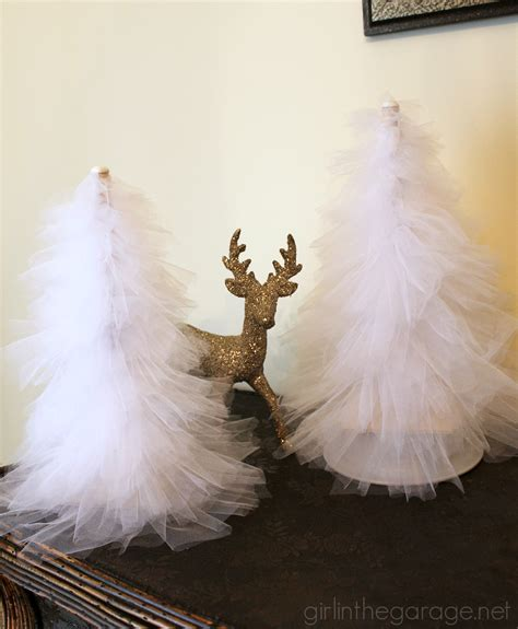 how to make winter decorations diy tulle trees in the garage 174