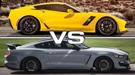 corvette shelby 2015 chevrolet corvette z06 vs 2016 shelby mustang gt350r