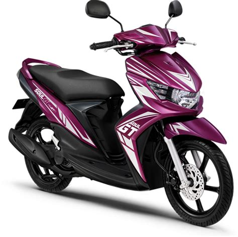 Alarm Motor Mio Gt modif striping mio soul gt 2013 warna purple striping