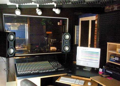pro tools studio with analog console small room