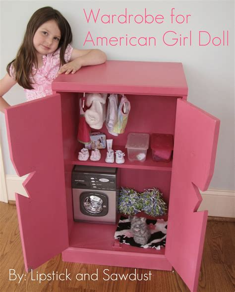 doll armoire for 18 inch dolls lipstick and sawdust wardrobe for american girl doll