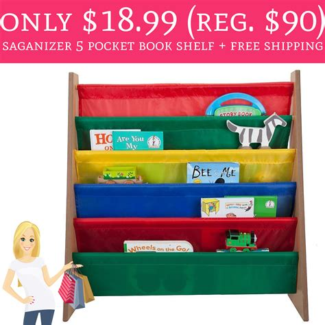 On A Shelf Free Shipping by Only 18 99 Regular 90 Saganizer 5 Pocket Book Shelf Free Shipping Deal