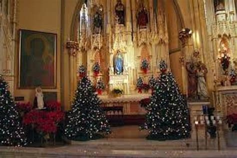 roman catholic church christmas decorations shm at picture of sweetest of catholic church detroit tripadvisor