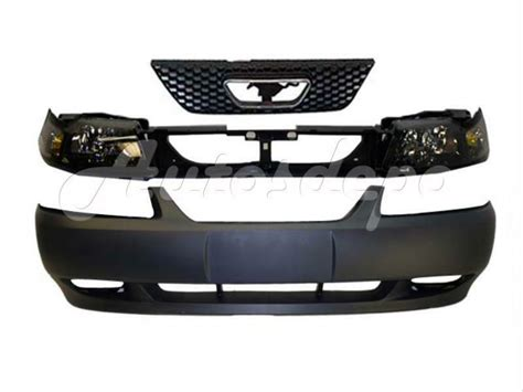 mustang gt front bumper primed header panel