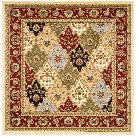 8 x 8 square area rugs safavieh lyndhurst multi 8 ft x 8 ft square area rug lnh320a 8sq the home depot