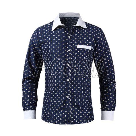 Dress Casual Polo Shirt 2015 s business casual casual print formal dress sleeve polo shirt tops ebay