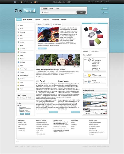 joomla portal template city portal premium joomla template by shape5