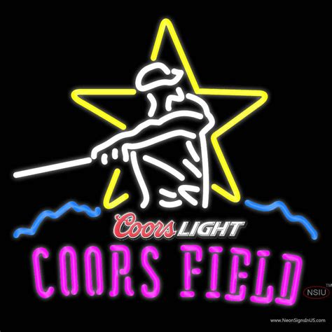 coors light neon sign coors light coors field neon sign neonsigns usa inc