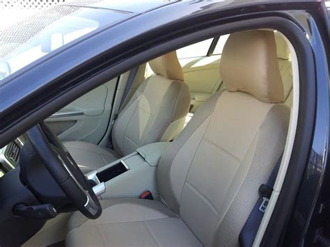 volvo s60 seat leatherette synthetic two front beige car seat