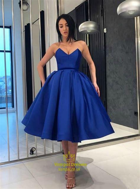 elegant royal blue sweetheart criss cross  ball gown