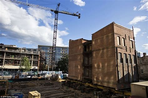 Washington DC apartment block moved to make way for new