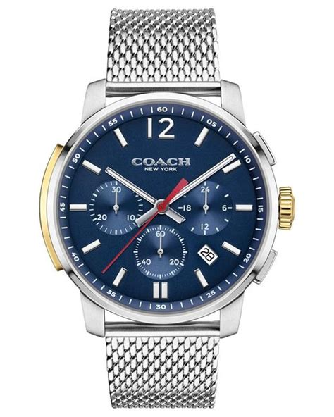 Watches Exclusively At by Coach S Bleecker Chrono Stainless Steel Mesh Bracelet