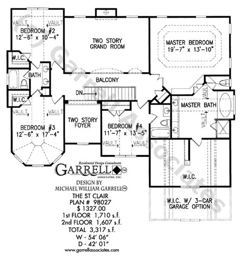 2 story house floor plans with basement st clair house plan house plans by garrell associates inc
